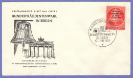 BER SC #9N106 1954 Presidential Election FDC 07-17-1954 - [5] Berlin