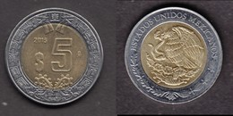 ##13, Mexique, Mexico, 2015, 5 Pesos, Aigle, Eagle, Oiseau, Bird - Messico