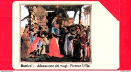 ITALIA - Scheda Telefonica - SIP - Usata - Firenze Uffizi - Botticelli - C&C 2180 - Golden 101 - Italia