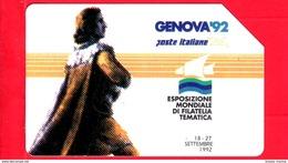 ITALIA - Scheda Telefonica - SIP - Usata - Genova ´92 - Colombo I Tipo - C&C 2254 - Golden 197 - Pubbliche Speciali O Commemorative