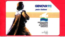 ITALIA - Scheda Telefonica - SIP - Usata - Genova ´92 - Colombo I Tipo - C&C 2254 - Golden 197 - Italia