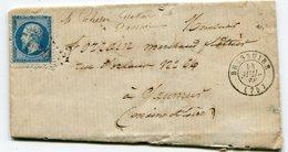 DEUX SEVRES De BRESSUIRE GC 610 Sur N°22 Sur LAC Du 14/07/1866 - Postmark Collection (Covers)