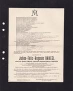 BRUXELLES Julien-Félix BAREEL 1830-1915 Veuf NOYER Directeur Wateringue Du GROOT-BROEK LIMBOURT Doodsbrief - Obituary Notices
