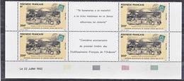 Polynésie  421 A Centenaire Du Timbre De L'Océanie Triptyques Paire Datée 22 7 1992 Neuf ** MNH Sin Charmela - Nuovi