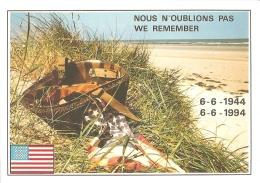Commémoration Du 50e Anniversaire Du Débarquement - A Nos Héroïques Libérateurs. Nous N'oublions Pas. We Remember (1944) - Eventi
