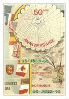 50e Anniversaire Du Débarquement - (06-06-1944 - 06-06-1994) - Longest Day - [Normandie - Parachutiste] - Eventi