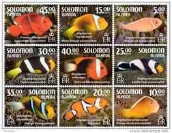 SOLOMON Isl. 2015 - Anemone Fish, 9 V - Fishes