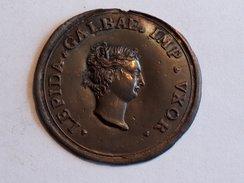 Plaque LEPIDA GALBAE IMP VXOR 5.5cm 12.3g Italian Grand Tour Souvenir Medaillon Bronze - Jetons & Médailles