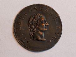 Plaque TIBER CAESAR AVG 5.0cm 3.4g Italian Grand Tour Souvenir Medaillon Bronze - Non Classés