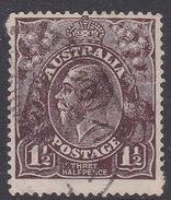 Australia SG 54 1914-24 Large Multiple Watermark King George V, Three Pence Black Brown Used - Used Stamps