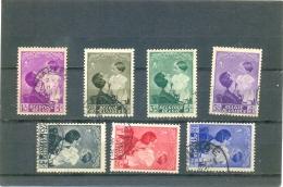 1937 BELGIQUE Y & T N° 447 à 454 ( O ) Reine Astrid