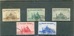 1938 BELGIQUE Y & T N° 471 à 475 ( O ) Basilique De Koekelberg