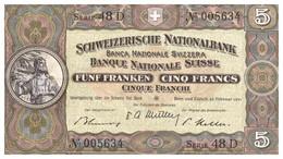 """5 Francs Suisse """"Guillaume Tell"""" 1951 TTBC - Suiza"""