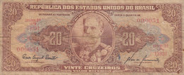 Brazil - 20 CRUZEIROS Marechal Deodoro Da Fonseca Serie 1393A No. 000051 (2 Scans) - Brasilien
