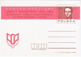 Poland 1973 Ignacy Pradzynski, Polish Military Commander, General Of The Polish Army, Napoleon Era - Stamped Stationery