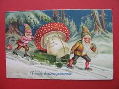 Mushroom.Vesele Bozicne Praznike.TRAIN SIGN.ZELEZNICA:PREVALJE-CELJE 86 - Slovenia