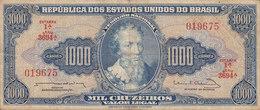 Brazil - 100 CRUZEIROS Pedro Alvares Cabral Serie 3694A No. 019675 (2 Scans) - Brasil