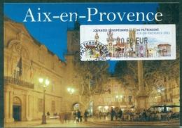 FRANCE CARTE MAXIMUM Timbre Distributeur  AIX EN PROVENCE 2011 Ttb - 2010-...