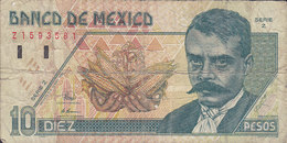 Mexico - 10 PESOS Emiliano Zapata Serie Z No. 159381 (2 Scans) - Mexiko