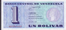 Venezuela - 1 BOLIVAR (5-10-1989) A87301559 Mint Condition ** (2 Scans) - Venezuela