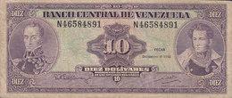 Venezuela - 10 BOLIVARES Simon Bolivar & Mariscal Sucré (dec.-8-1992) N 46584891 (2 Scans) - Venezuela