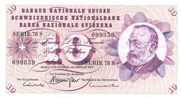 """· 10 Francs Type """"Goltfried Keller"""" Du 24 Janvier 1972 TTBC - Suiza"""