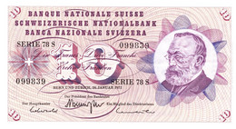 "· 10 Francs Type ""Goltfried Keller"" Du 24 Janvier 1972 TTBC - Suisse"