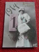 FANTAISIES - VOEUX - Bonne Année  1914 - Nouvel An