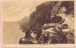 ALTE  AK   GARGNANO-TIGNALE / Lombardei  -  Strada Turistica - 1930 Gelaufen - Italie
