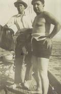 Tirage Photo à Partir De L'original écrivain Francis Carco Et Andre Salmon 1930 - Reproductions