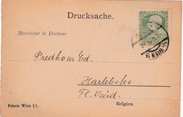 Postwaardestuk Voor Belgie ( Belgien ) Bestemd Voor Dokters En Apothekers ( Tabletten De Marienbad / Prof.Dr De Basch )