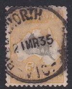 Australia SG 111 1929-30 Kangaroos Multiple Watermark Five Shilling Grey And Yellow Used - 1913-48 Kangaroos