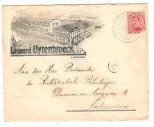 TP 138(def) S/L.publicitaire Léonard Uytenbroeck Anvers C.Fortune Antwerpen 1919 V.E/V PR4525 - Postmark Collection