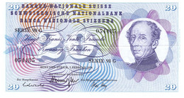 """20 Francs Type """"Guillaume Henri Dufour"""" TTBC - Suiza"""