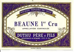 Etiquette De Vin - De 1971 - BEAUNE Ler Cru - Duthu Père & Fils, Beaune - - Etiquettes