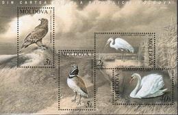 Moldova, 2003, Birds, Swan, Heron, Eagle, MNH