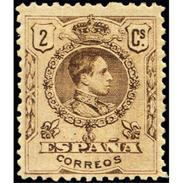 ES267STV-LFT**267STAN.España.Spain. Espagne.Rey ALFONSO Xlll.tipo Medallon.1909/22(Ed 267* )con  Charnela - Ungebraucht