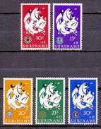 1966 Surinam (Suriname) Easter, Rotary, Lin Club (5v) MNH (M-102)