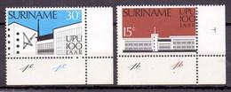 1974 Surinam (Suriname) Centenary Of Universal Postal Union, UPU, GPO (2v) MNH (M-102)