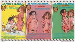 2X2852 HUMOUR ALEXANDRE Lot De 3 Cartes LA PECHE A LA MOULE - Humour