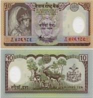 NEPAL       10 Rupees       P-54       ND (2007)      UNC - Nepal