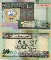 KUWAIT       ½ Dinar       P-24[h]       L. 1968 (ca. 2013)       UNC  [Sign. 16] - Half - 1/2 - Kuwait