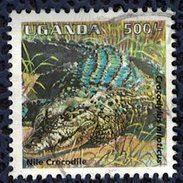 Ouganda 1995 Oblitéré Used Animaux Crocodylus Niloticus Crocodile Du Nile - Uganda (1962-...)