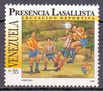 Venezuela 1995 Youth Playing Football, Soccer (1v) MNH (M-104)