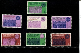 445802303 AUSTRALIA 1971 GEBRUIKT USED GEBRAUCHT OBLITERE YVERT 450 TOT 456 - 1952-65 Elizabeth II : Ed. Pré-décimales