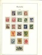 445802861 AUSTRALIA 1959 1962 GEBRUIKT USED GEBRAUCHT OBLITERE YVERT 249 TOT 259 - 1952-65 Elizabeth II : Ed. Pré-décimales