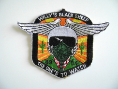 USAF EMBROIDERED PATCH WILLY'S BLACK SHEEP    AIR FORCE  USA  AEREONAUTICA  MILITARE  PATCH PATCHES - Ecussons Tissu
