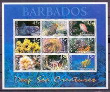 Barbados 2001 Fish And Marinelife M/Sheet MNH (M-105)