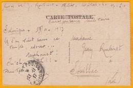1917 - CP En FM, Armée D' Orient, SP 510, Salonique, Grèce,  Levant Français Vers Souillac, Lot - Poste Aux Armées - 1. Weltkrieg 1914-1918