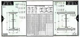 Ancienne Règle à Calcul OMARO - Fers Profilés En U, En T, Poutrelles IPN Et H - Copyright 1935 - Autres